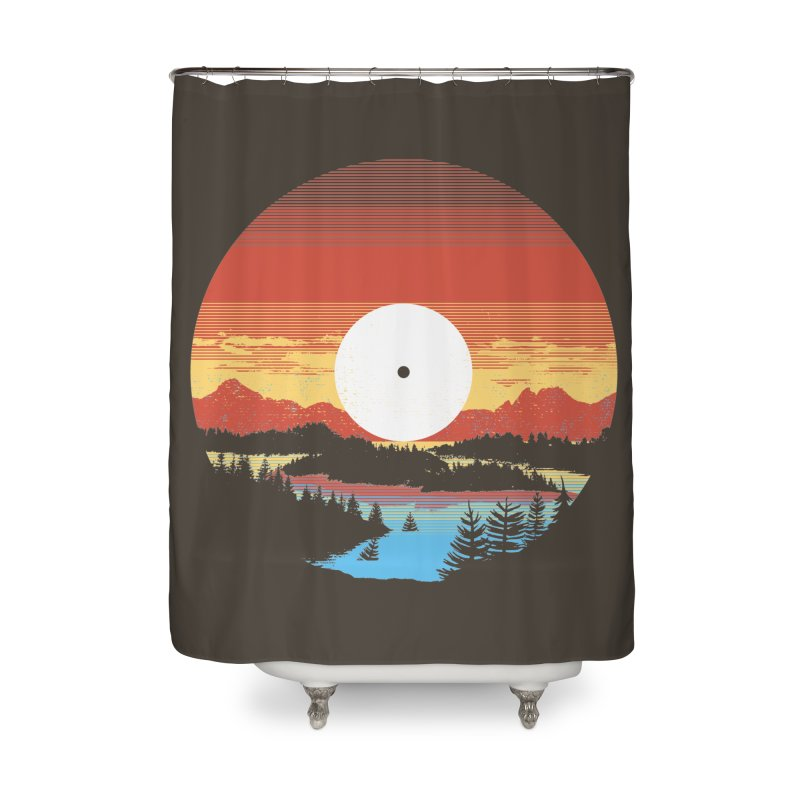 1973 Home Shower Curtain by Santiago Sarquis's Artist Shop