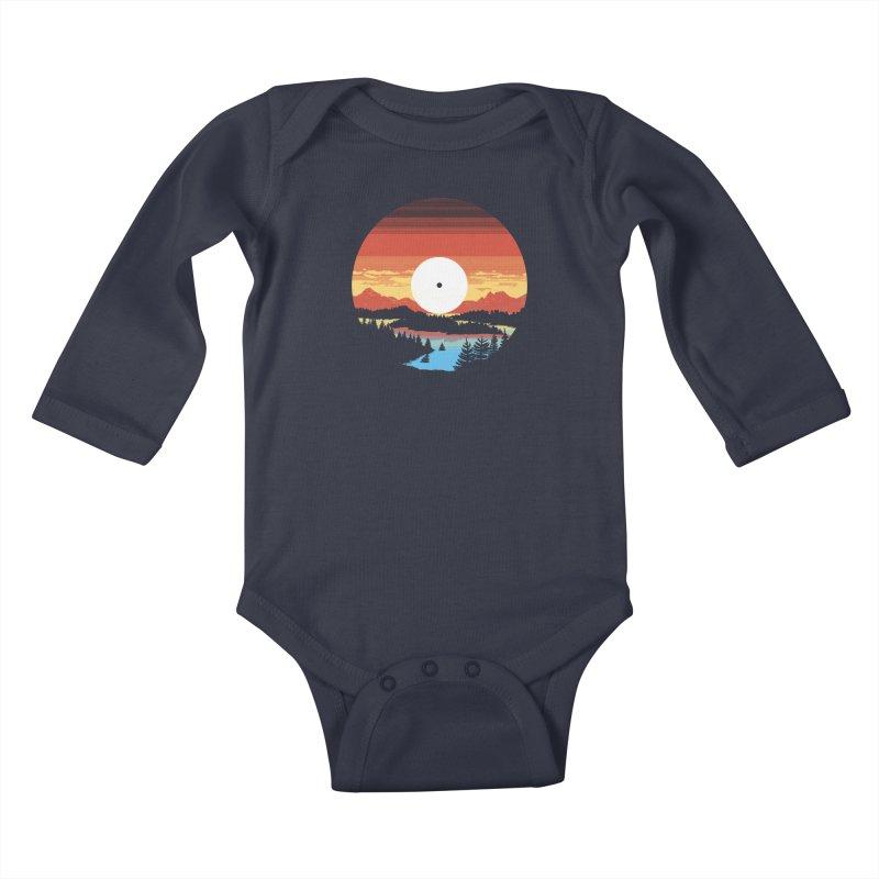 1973 Kids Baby Longsleeve Bodysuit by Santiago Sarquis's Artist Shop