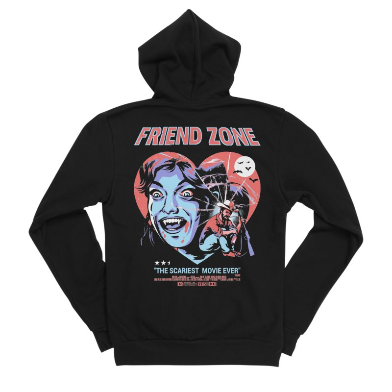 Friend Zone Women's Zip-Up Hoody by Santiago Sarquis's Artist Shop