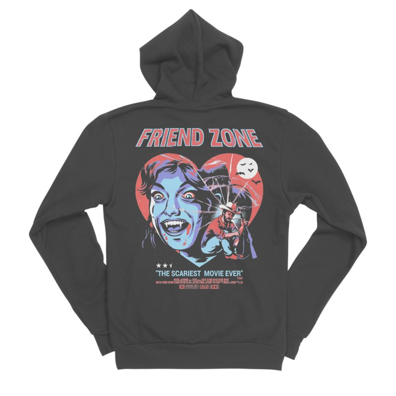 Friend Zone Men's Sponge Fleece Zip-Up Hoody by Santiago Sarquis's Artist Shop