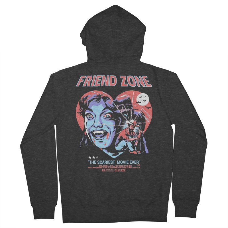 Friend Zone Men's French Terry Zip-Up Hoody by Santiago Sarquis's Artist Shop