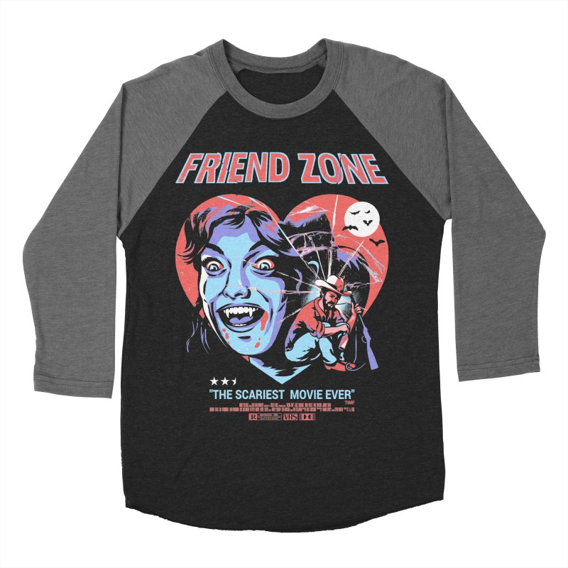 Friend Zone Men's Baseball Triblend Longsleeve T-Shirt by Santiago Sarquis's Artist Shop