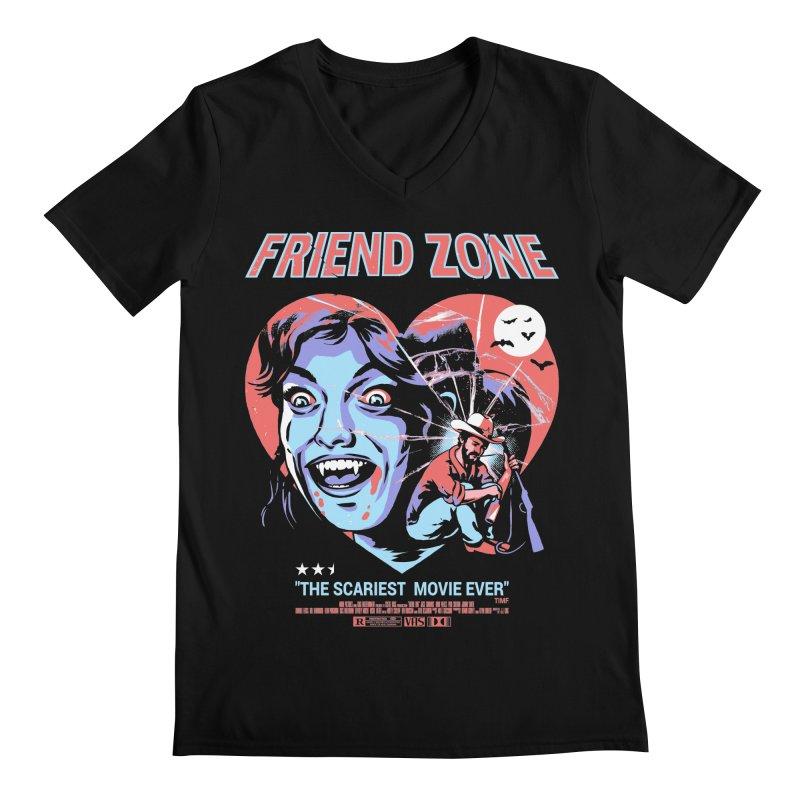 Friend Zone Men's Regular V-Neck by Santiago Sarquis's Artist Shop