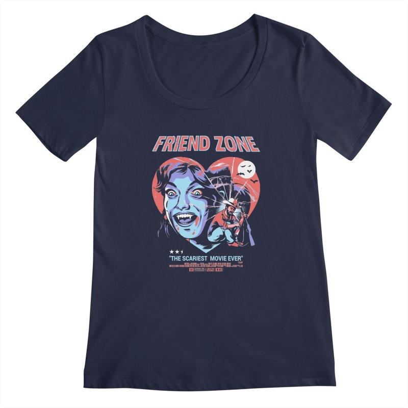 Friend Zone Women's Regular Scoop Neck by Santiago Sarquis's Artist Shop