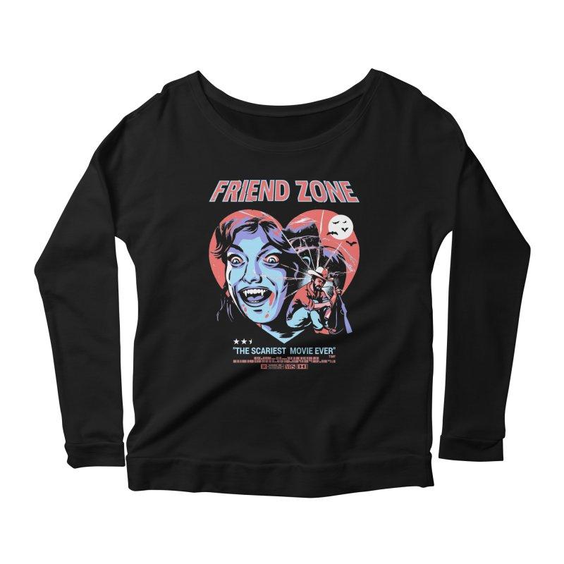 Friend Zone Women's Scoop Neck Longsleeve T-Shirt by Santiago Sarquis's Artist Shop