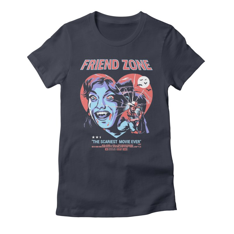 Friend Zone Women's Fitted T-Shirt by Santiago Sarquis's Artist Shop
