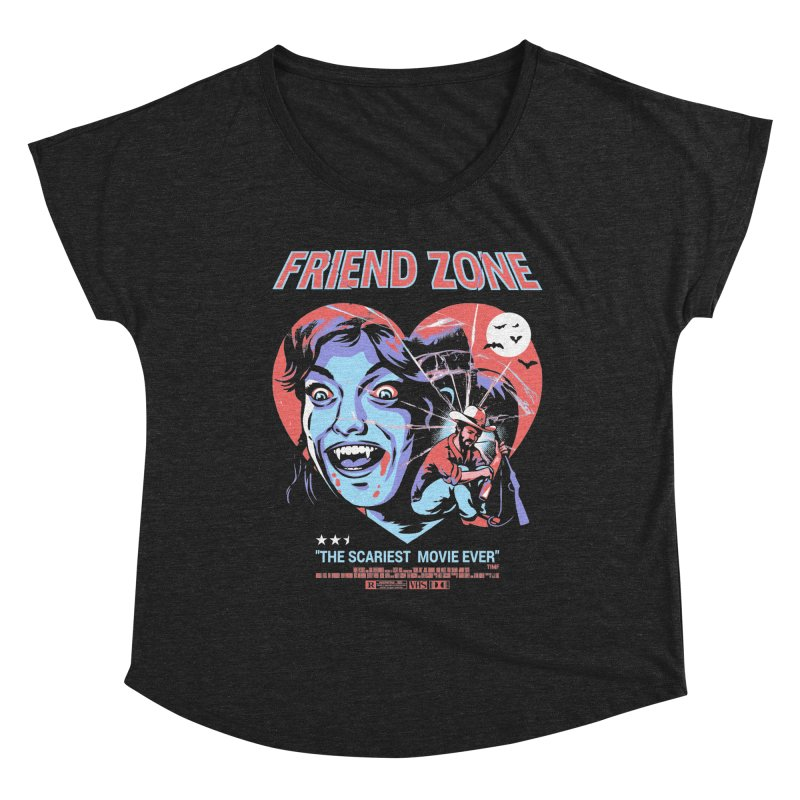 Friend Zone Women's Scoop Neck by Santiago Sarquis's Artist Shop
