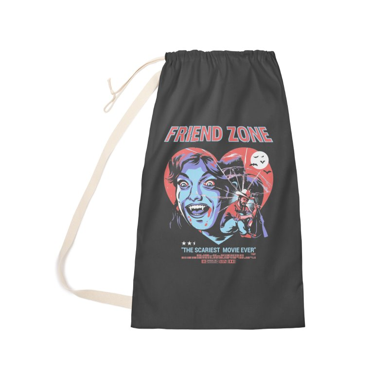 Friend Zone Accessories Laundry Bag Bag by Santiago Sarquis's Artist Shop