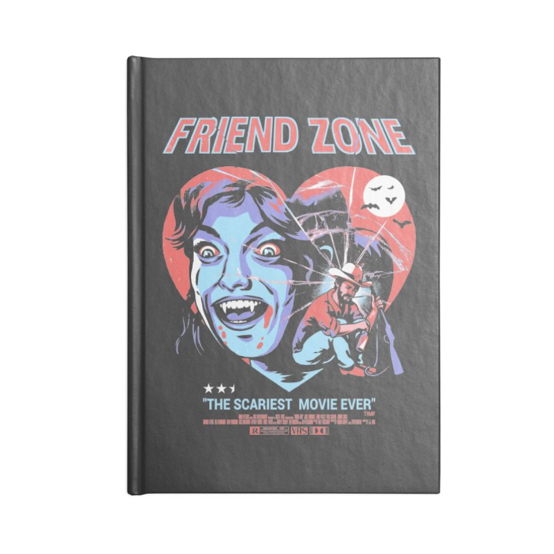 Friend Zone Accessories Lined Journal Notebook by Santiago Sarquis's Artist Shop