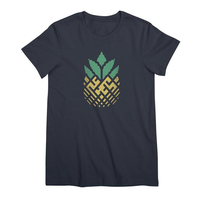 Pineapple Maze Women's Premium T-Shirt by Santiago Sarquis's Artist Shop