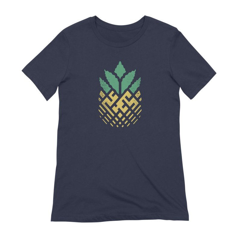 Pineapple Maze Women's Extra Soft T-Shirt by Santiago Sarquis's Artist Shop