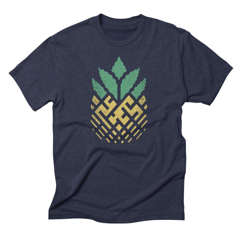 Pineapple Maze Men's T-Shirt by Santiago Sarquis's Artist Shop