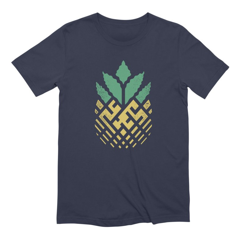 Pineapple Maze Men's Extra Soft T-Shirt by Santiago Sarquis's Artist Shop