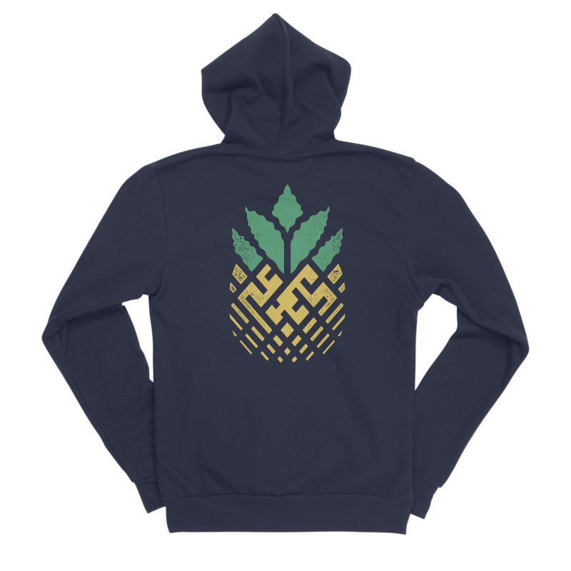 Pineapple Maze Men's Sponge Fleece Zip-Up Hoody by Santiago Sarquis's Artist Shop