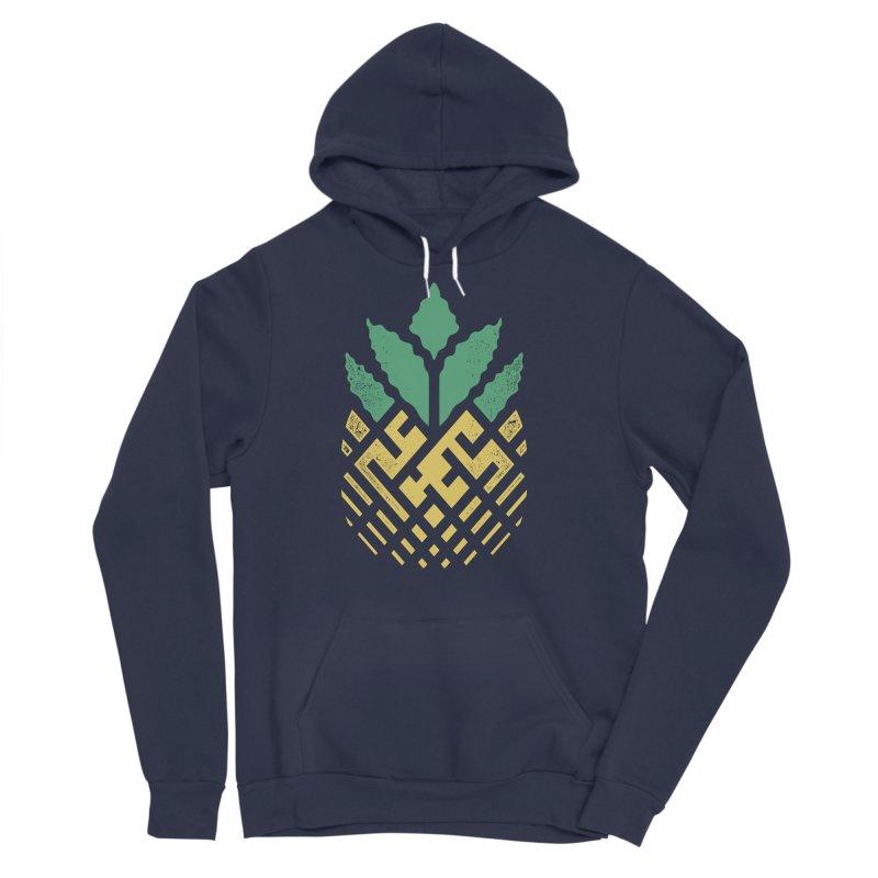 Pineapple Maze Men's Sponge Fleece Pullover Hoody by Santiago Sarquis's Artist Shop