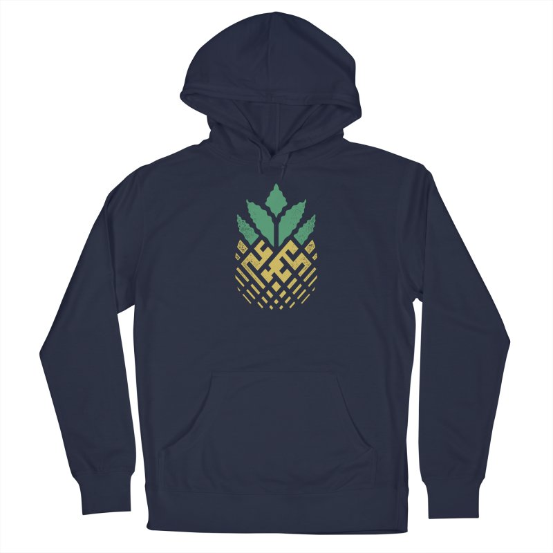 Pineapple Maze Men's French Terry Pullover Hoody by Santiago Sarquis's Artist Shop
