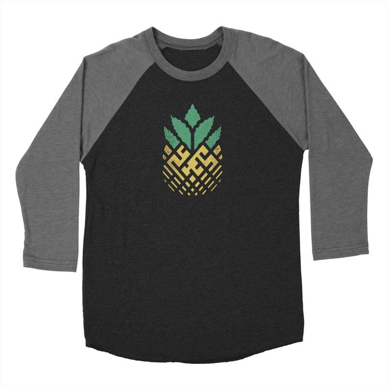 Pineapple Maze Men's Baseball Triblend Longsleeve T-Shirt by Santiago Sarquis's Artist Shop