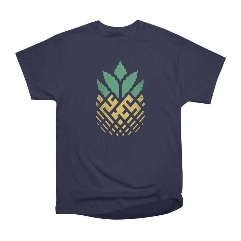 Pineapple Maze Women's Heavyweight Unisex T-Shirt by Santiago Sarquis's Artist Shop