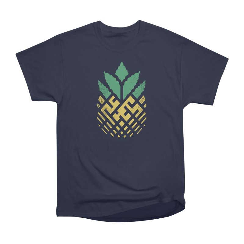 Pineapple Maze Men's Heavyweight T-Shirt by Santiago Sarquis's Artist Shop