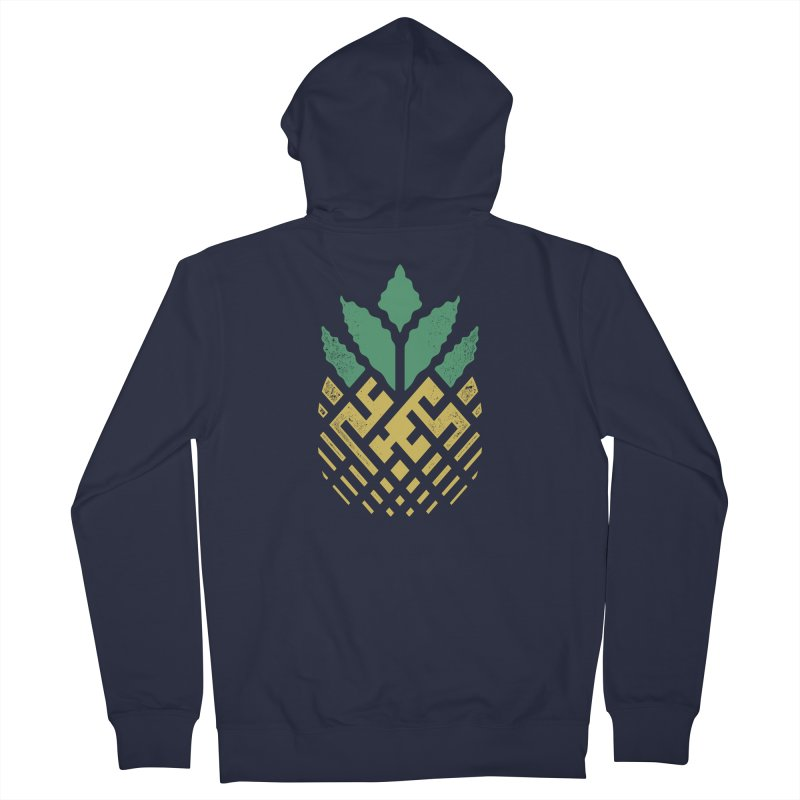Pineapple Maze Men's French Terry Zip-Up Hoody by Santiago Sarquis's Artist Shop