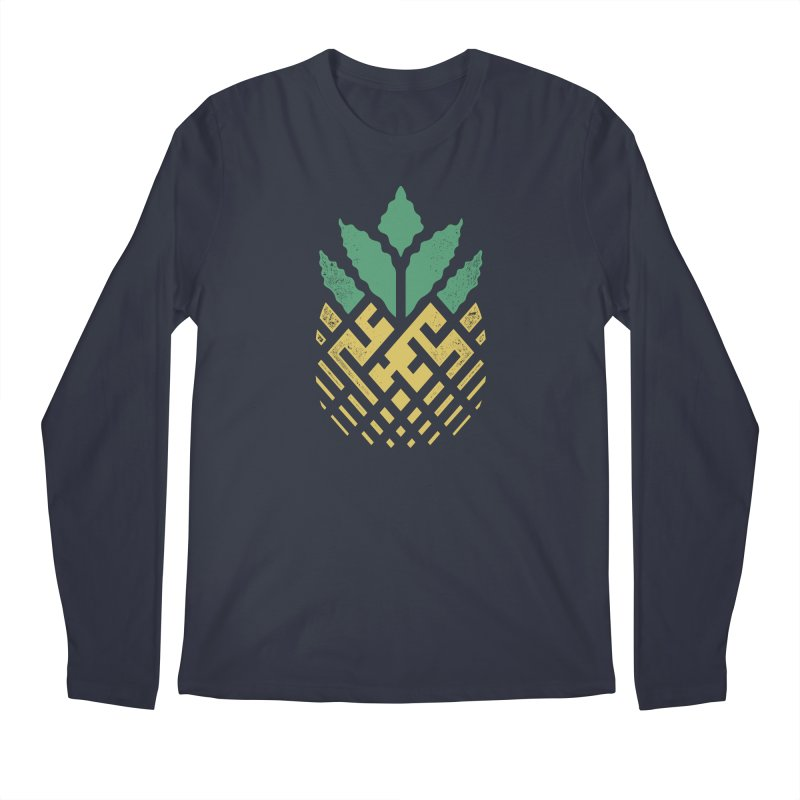 Pineapple Maze Men's Longsleeve T-Shirt by Santiago Sarquis's Artist Shop