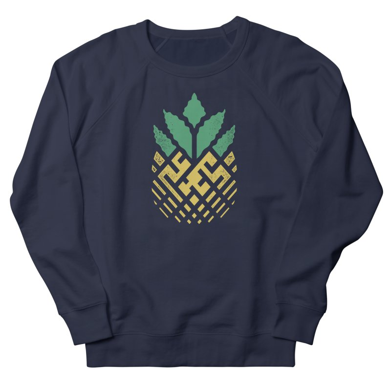 Pineapple Maze Men's French Terry Sweatshirt by Santiago Sarquis's Artist Shop