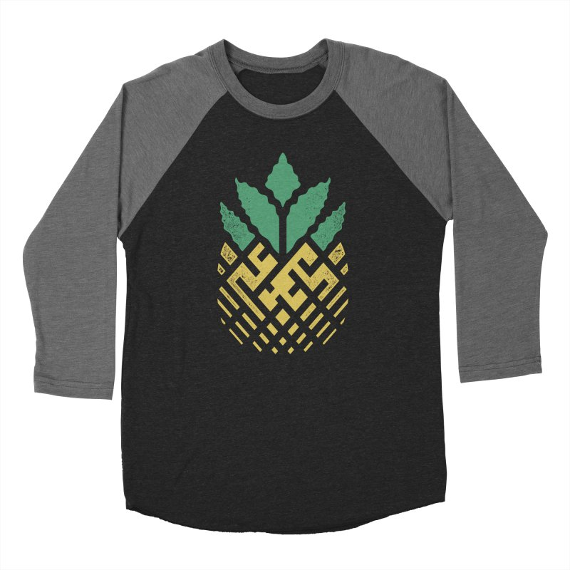 Pineapple Maze Men's Baseball Triblend Longsleeve T-Shirt by Santiago Sarquis's Artist Shop