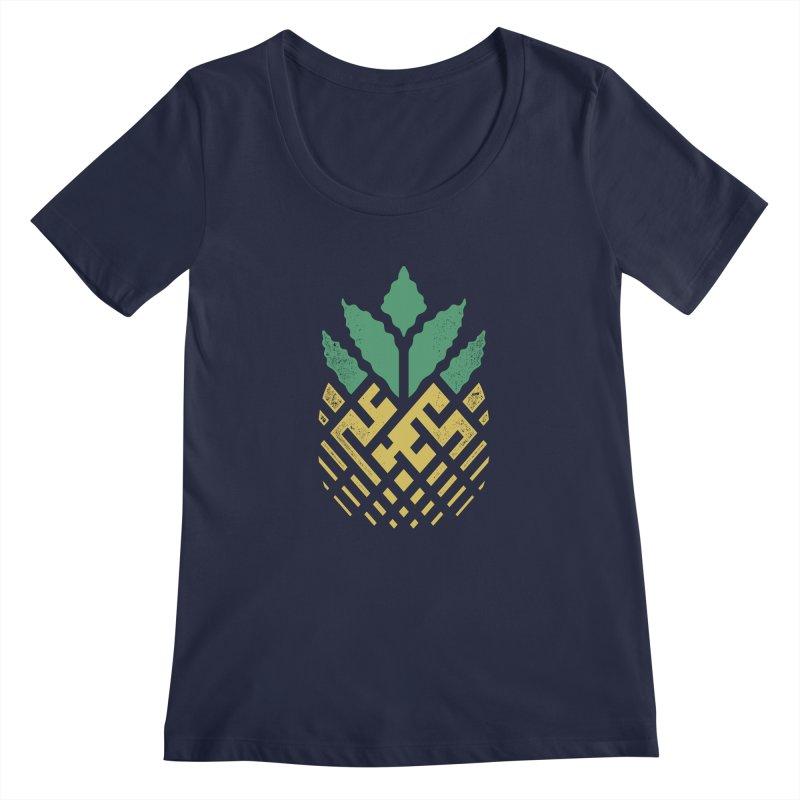 Pineapple Maze Women's Regular Scoop Neck by Santiago Sarquis's Artist Shop