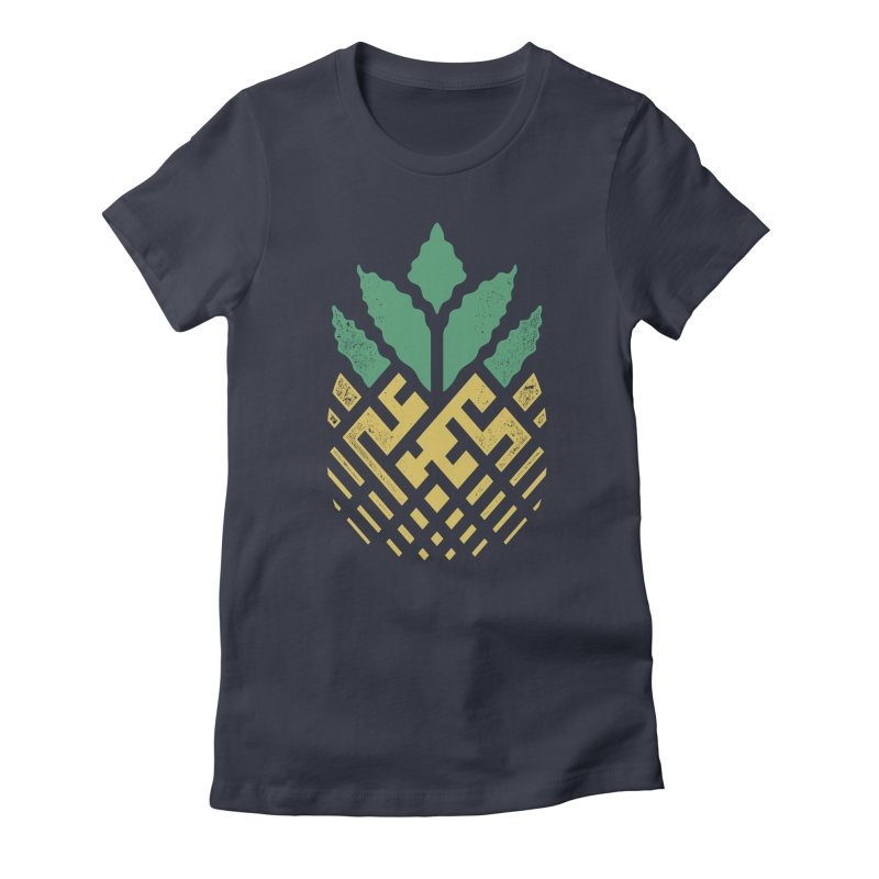 Pineapple Maze Women's T-Shirt by Santiago Sarquis's Artist Shop
