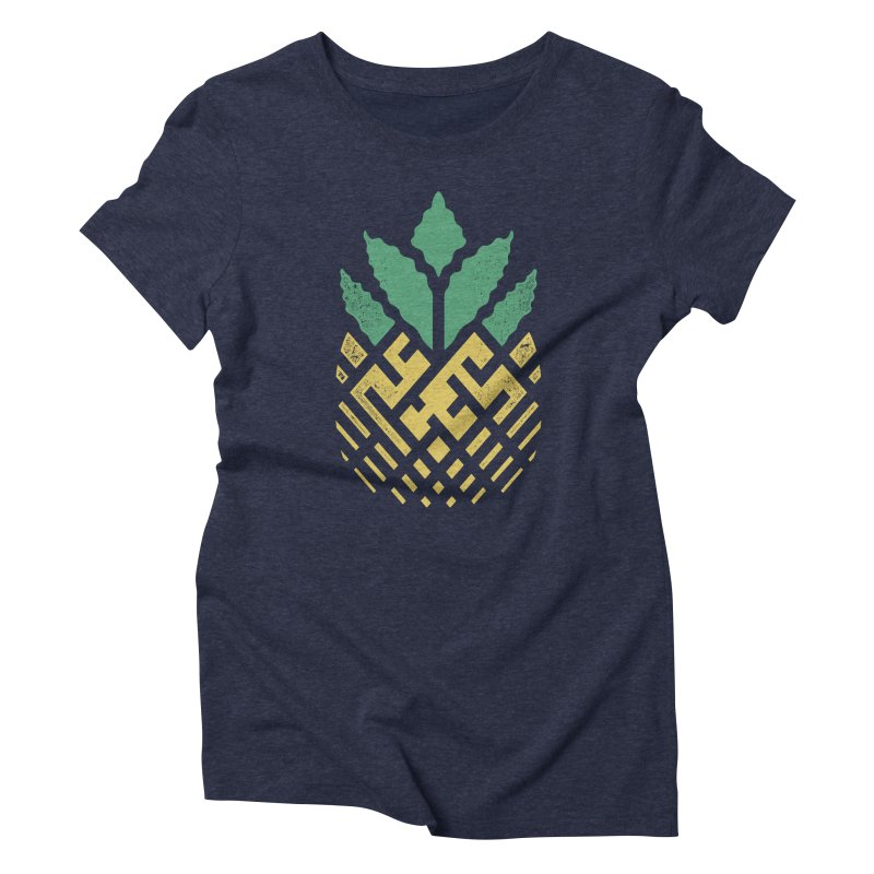 Pineapple Maze Women's Triblend T-Shirt by Santiago Sarquis's Artist Shop