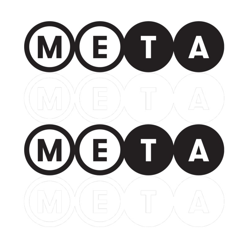 Meta Logo Stacked B&W Crewneck Sweatershirt Men's Sweatshirt by Meta NYC's Shop