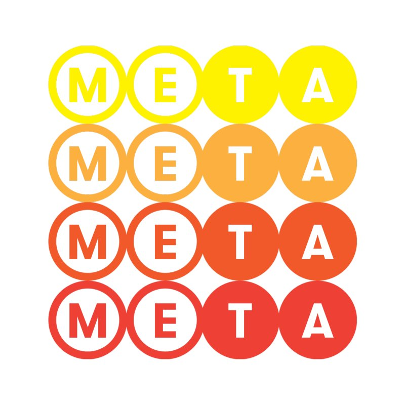 Meta Logo Stacked Color - Unisex T Men's T-Shirt by Meta NYC's Shop