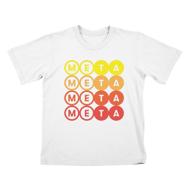 Meta Logo Stacked Logo - Kids T Kids T-Shirt by Meta NYC's Shop
