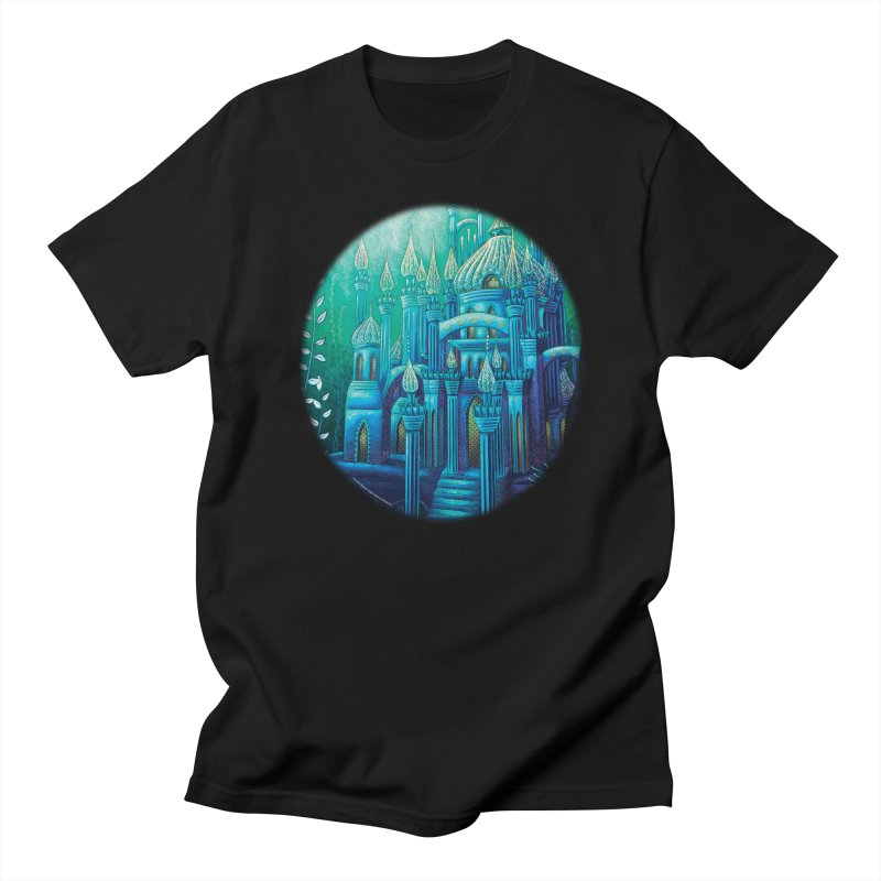 Little Mermaid Palace T-shirt in Men's T-Shirt Black by The Metaphrog Artist Shop