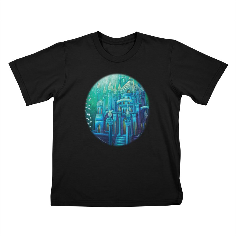 Little Mermaid Palace T-shirt Kids T-Shirt by The Metaphrog Artist Shop