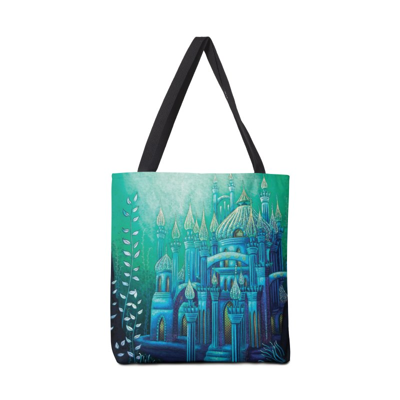 Little Mermaid Palace Tote Bag Accessories Tote Bag Bag by The Metaphrog Artist Shop
