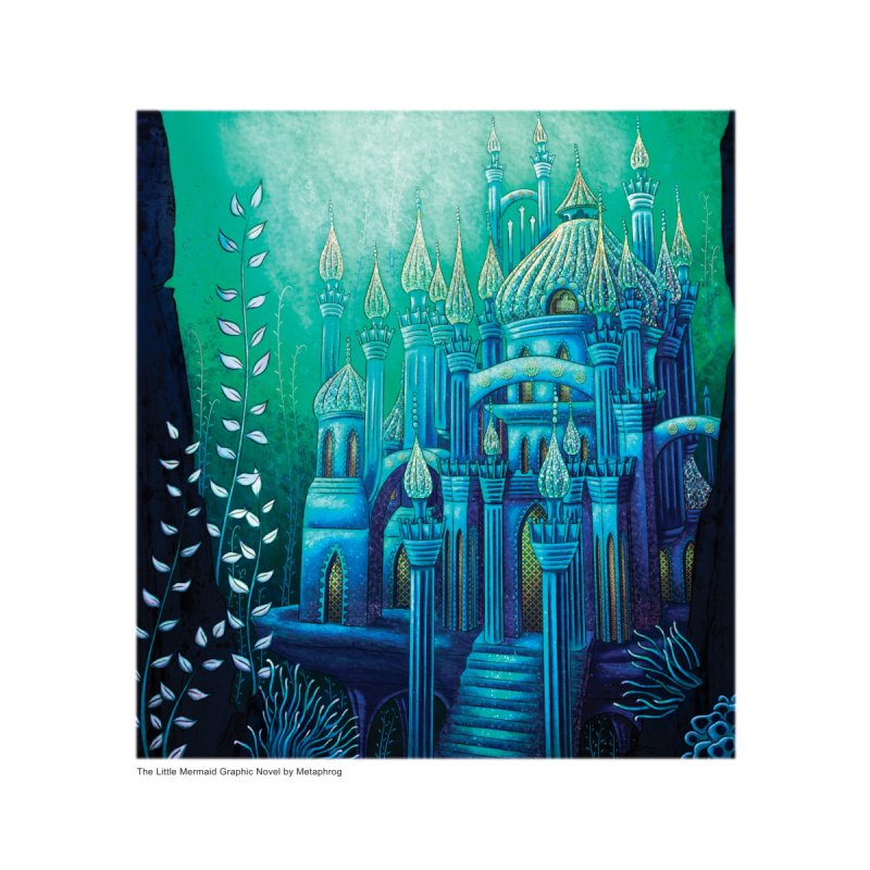 Little Mermaid Palace Fine Art Prints Home Framed Fine Art Print by The Metaphrog Artist Shop