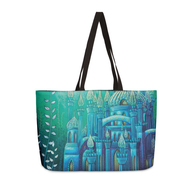 Little Mermaid Palace Weekender Bag Accessories Weekender Bag Bag by The Metaphrog Artist Shop