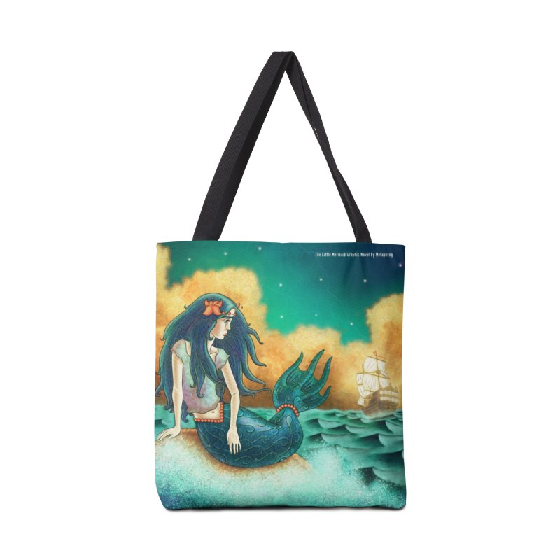 Little Mermaid Tote Bag Accessories Tote Bag Bag by The Metaphrog Artist Shop