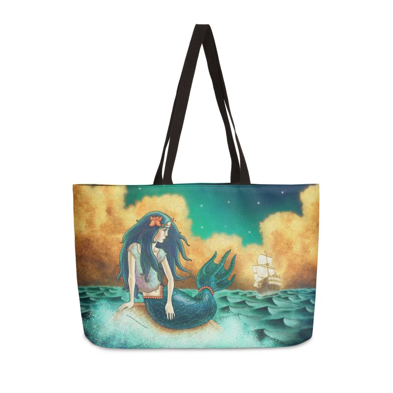 Little Mermaid Weekender Bag Accessories Weekender Bag Bag by The Metaphrog Artist Shop