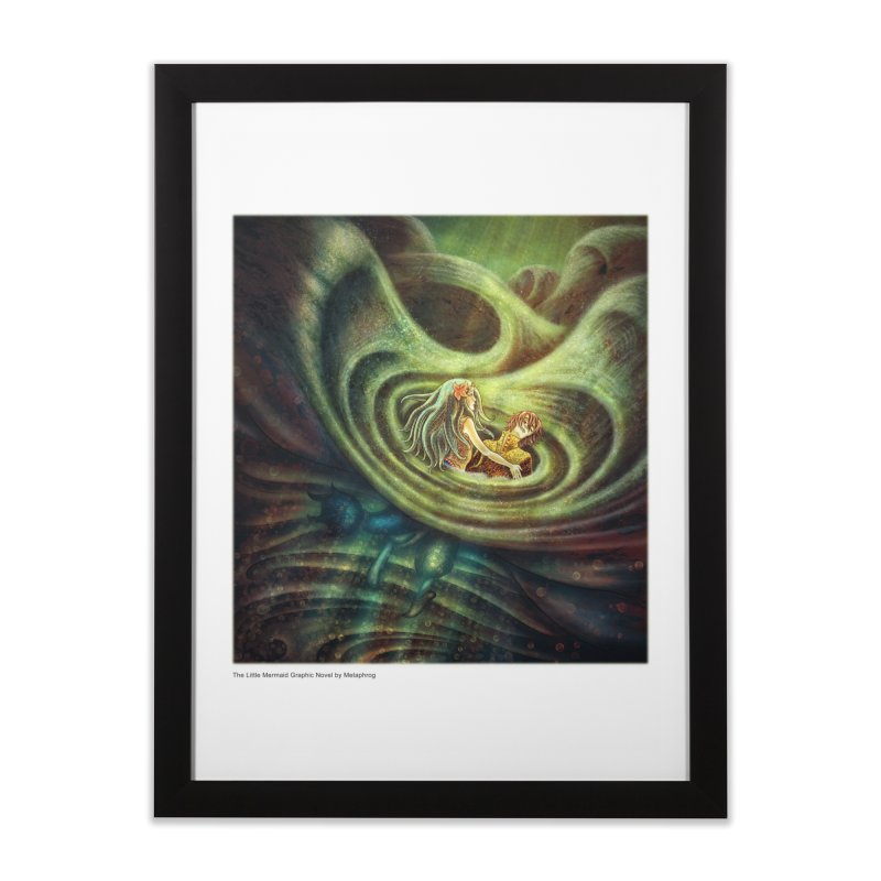 Little Mermaid Wave Fine Art Print Home Framed Fine Art Print by The Metaphrog Artist Shop