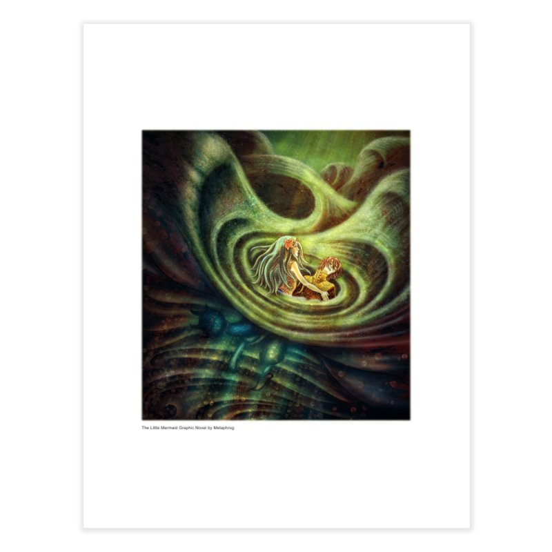 Little Mermaid Wave Fine Art Print Home Fine Art Print by The Metaphrog Artist Shop