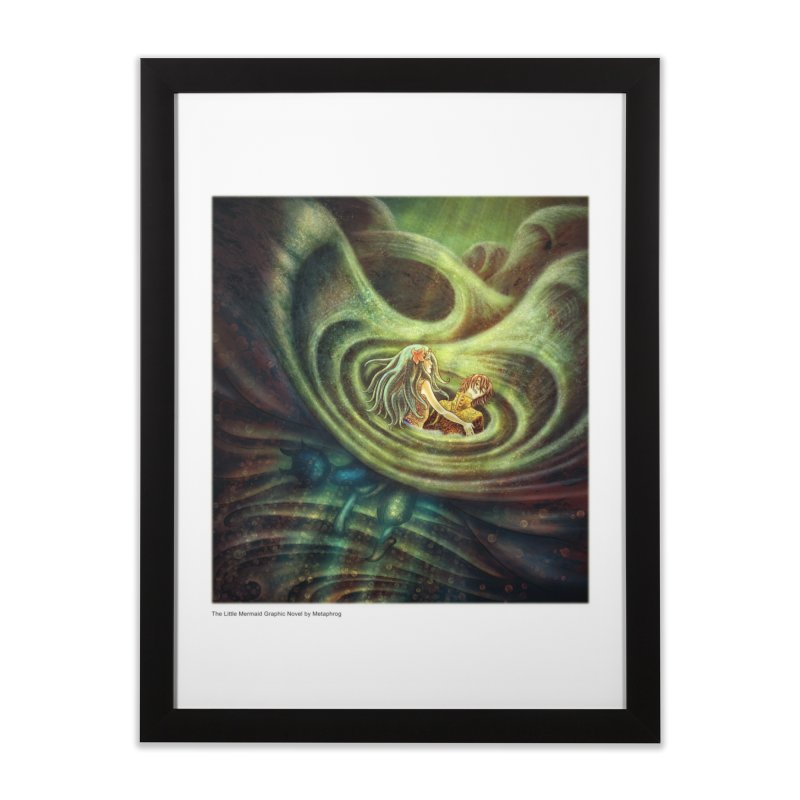 Little Mermaid Wave Fine Art Print in Framed Fine Art Print Black by The Metaphrog Artist Shop