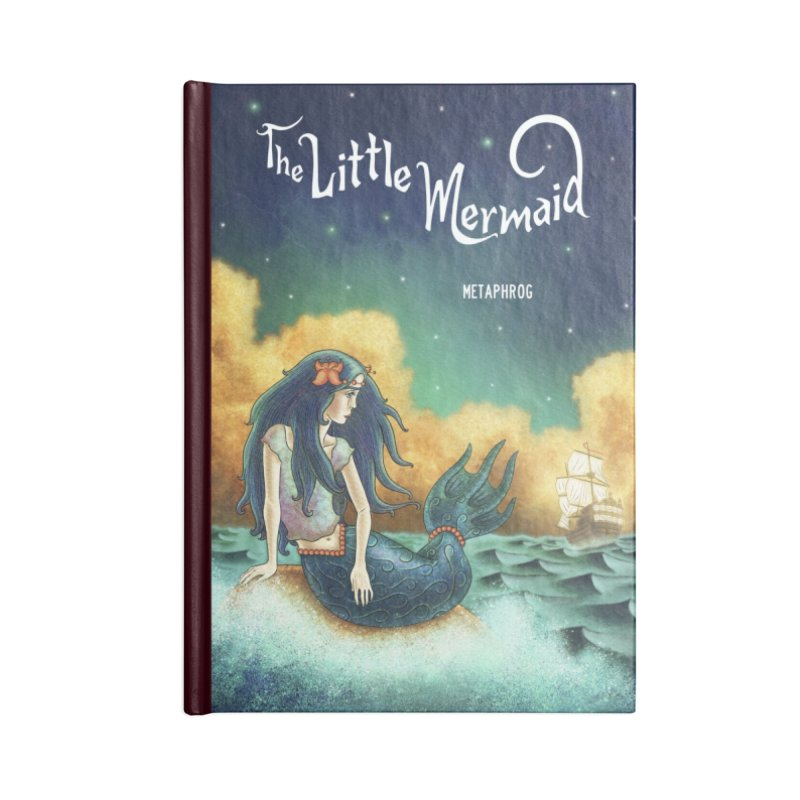 Little Mermaid Journal Notebook Accessories Blank Journal Notebook by The Metaphrog Artist Shop