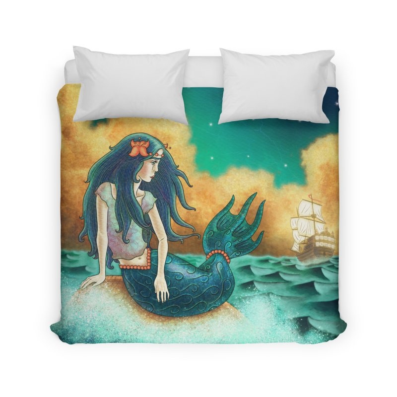 Little Mermaid Duvet Home Duvet by The Metaphrog Artist Shop