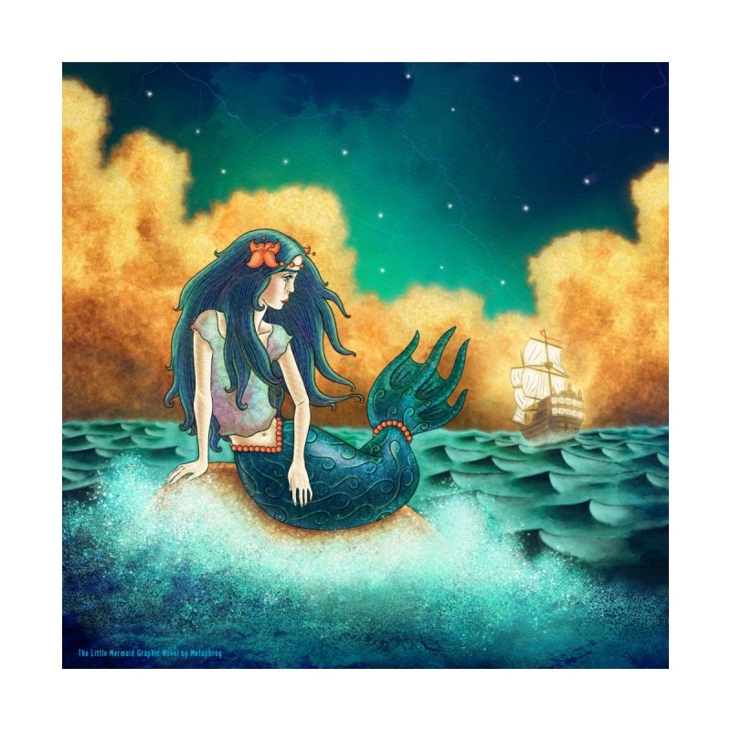 Little Mermaid Pillow by The Metaphrog Artist Shop