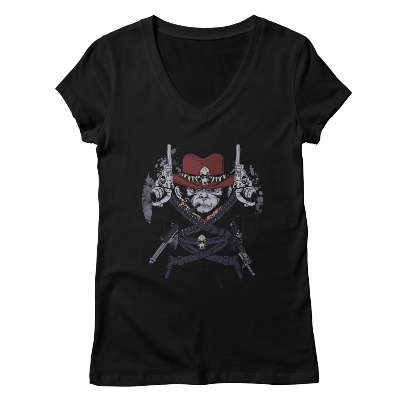 the bandit Women's V-Neck by methlop39's Artist Shop