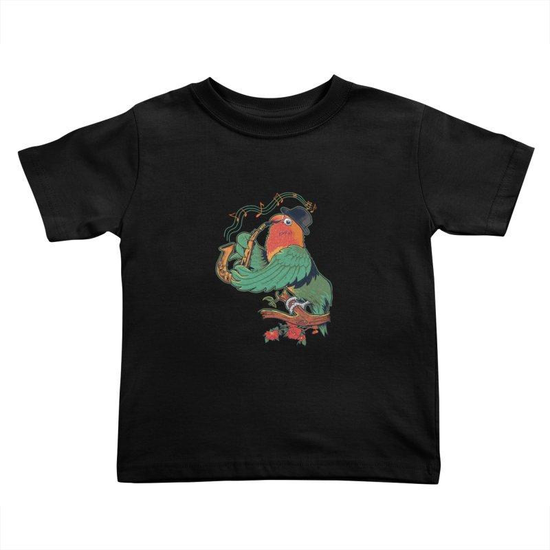 love bird Kids Toddler T-Shirt by methlop39's Artist Shop