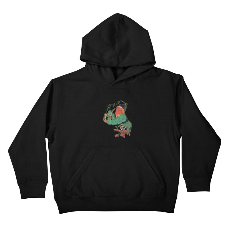 love bird Kids Pullover Hoody by methlop39's Artist Shop
