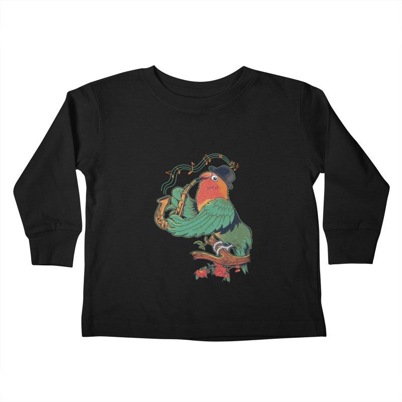 love bird Kids Toddler Longsleeve T-Shirt by methlop39's Artist Shop